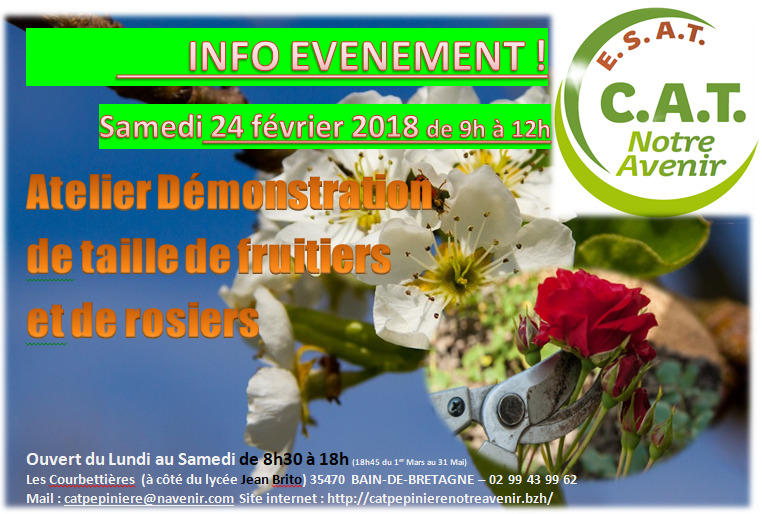 Atelier taille fruitiers et rosiers 24-02-2018